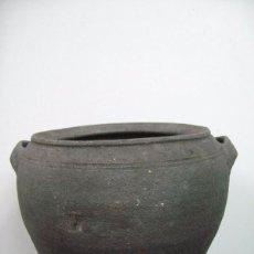 Antigüedades: ANTIGUA VASIJA DE CERAMICA NEGRA ASTURIANA ASTURIAS. Lote 51001847
