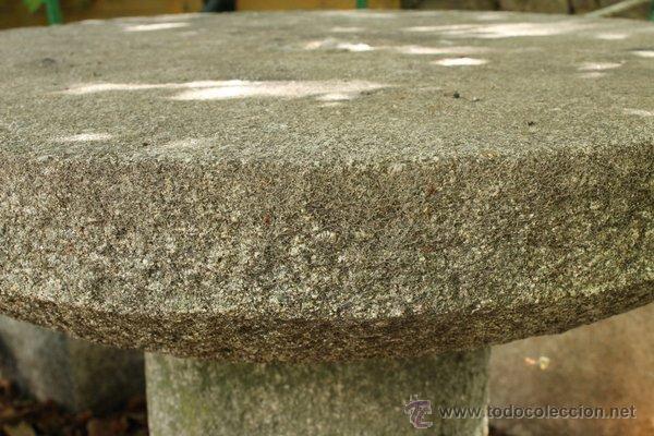 Mesa de granito redonda para jard n exterior comprar for Bancos de granito para jardin
