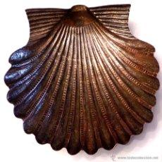 Antigüedades: CONCHA EN PLATA DE LEY 19X19 CM. Lote 51005410