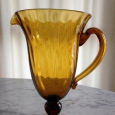 Antigüedades: ANTIGUA JARRA DE VIDRIO SOPLADO.. Lote 51005656