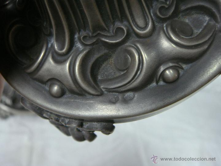 Antigüedades: Pareja de Candeleros o Candelabros Antiguos. Plata Maciza .925 mls. Joyería Mexia, Cadiz - Foto 8 - 51594760