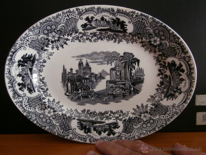 ANTIGUA FUENTE OVALADA PICKMAN LA CARTUJA DE SEVILLA (Antigüedades - Porcelanas y Cerámicas - La Cartuja Pickman)
