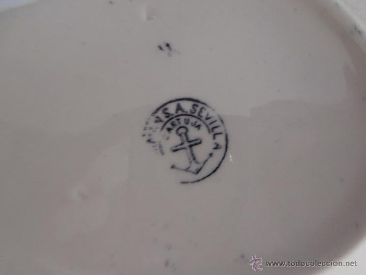 Antigüedades: ANTIGUA FUENTE OVALADA PICKMAN LA CARTUJA DE SEVILLA - Foto 4 - 54433999