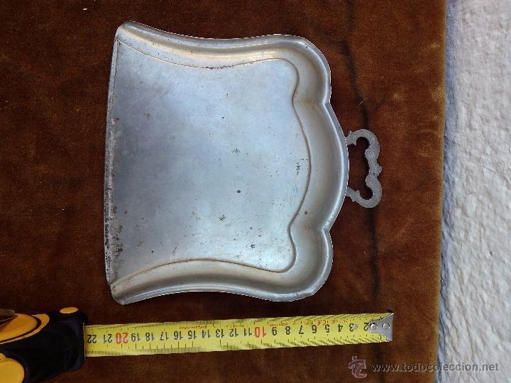 Antigüedades: Recogedor alpaca antiguo - Foto 3 - 51018287