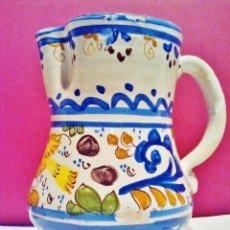 Antigüedades: JARRA DE MANISES CON PÁJARO. PERFECTO ESTADO. . Lote 51018743