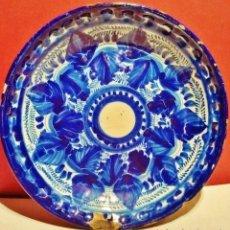 Antigüedades: MANISES.PLATO AZUL, S. XIX.. Lote 51018750
