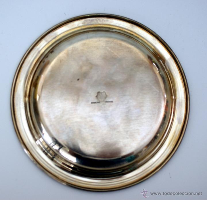 Antigüedades: ANTIGUA BANDEJA EN PLATA DE 925 MM - CONTRASTE DE MEXICO - DF - Foto 3 - 51027806