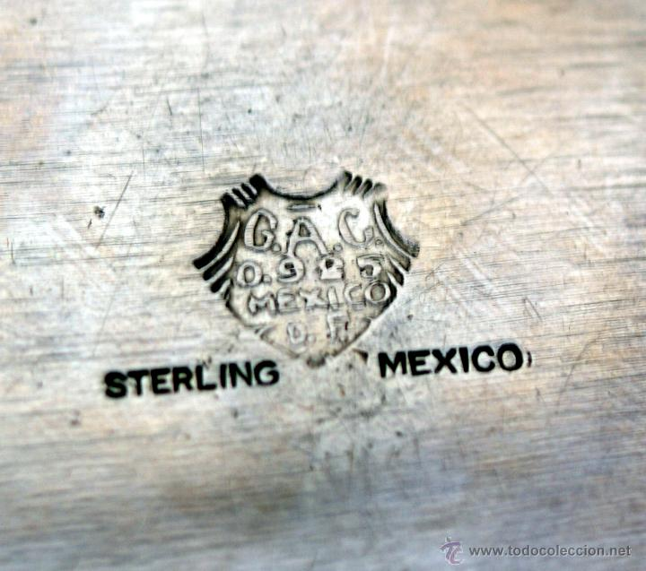 Antigüedades: ANTIGUA BANDEJA EN PLATA DE 925 MM - CONTRASTE DE MEXICO - DF - Foto 4 - 51027806