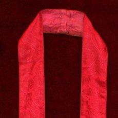 Antigüedades: ESTOLA CON DECORACIONES EN HILO DE SEDA. Lote 51038703