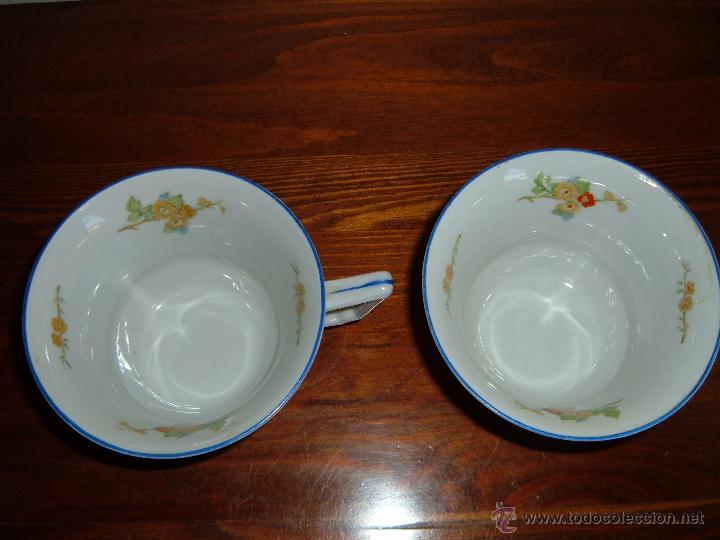 Antigüedades: Pareja de tazas filo azul - Foto 2 - 51046728