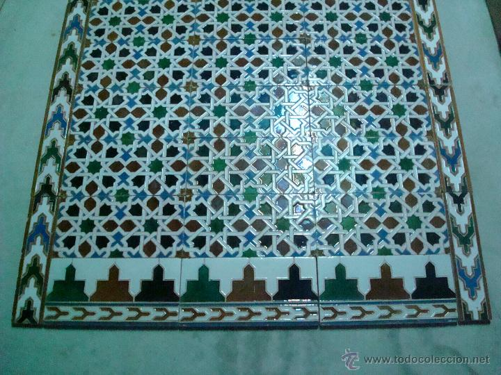 Antigüedades: mensaque azulejos de triana SEVILLA rodriguez y cia siglo xIx - Foto 2 - 51051554