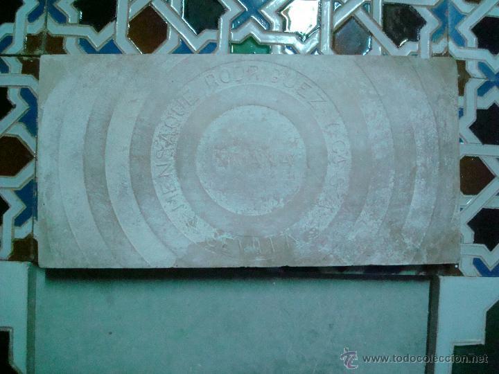 Antigüedades: mensaque azulejos de triana SEVILLA rodriguez y cia siglo xIx - Foto 3 - 51051554