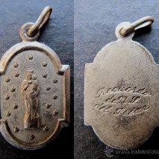 Antigüedades: MEDALLA RELIGIOSA ANTIGUA VIRGEN DEL PILAR PLATA. Lote 51052754