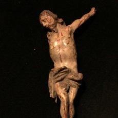 Antigüedades: CRISTO DE MADERA POLICROMADA. Lote 51052854