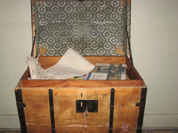 Antigüedades: ANTIGUO BAUL - Foto 6 - 51052887