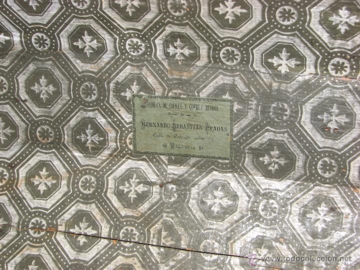 Antigüedades: ANTIGUO BAUL - Foto 13 - 51052887