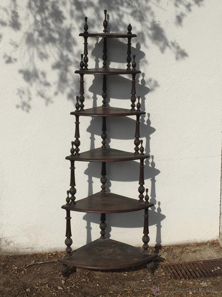 ESTANTERIA ESQUINERA (Antigüedades - Muebles Antiguos - Repisas Antiguas)