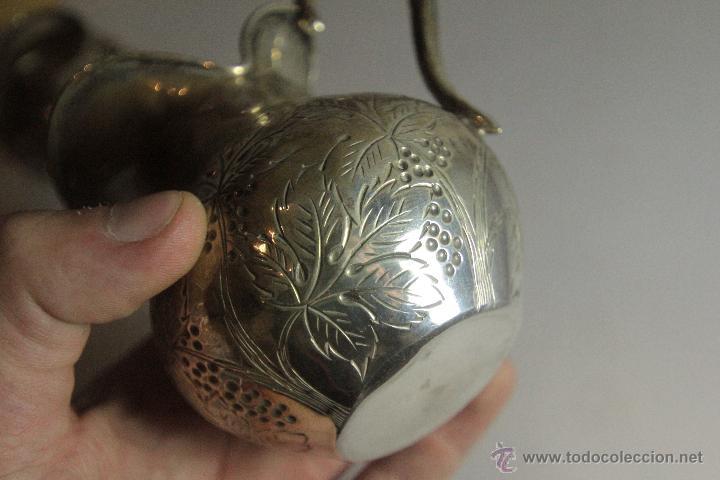 Antigüedades: Antigua jarrita, de 9cm, en plata de ley - Foto 2 - 51054084