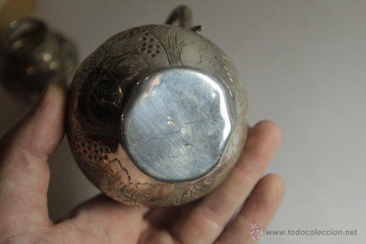 Antigüedades: Antigua jarrita, de 9cm, en plata de ley - Foto 3 - 51054084