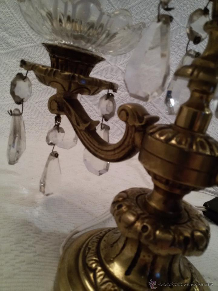 Antigüedades: ANTIGUO CANDELABRO EN BRONCE-LABRADO-DOS PISOS-3 LUCES - Foto 8 - 51054126