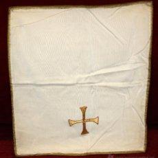 Antigüedades: CORPORAL CON RIBETES Y DECORACIONES DORADAS. Lote 51056163
