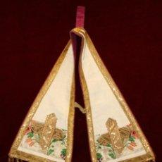 Antigüedades: MANIPULO CON BORDES RIBETEADOS. Lote 51058392