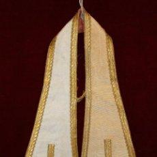 Antigüedades: MANIPULO CON BORDES RIBETEADOS. Lote 51058485