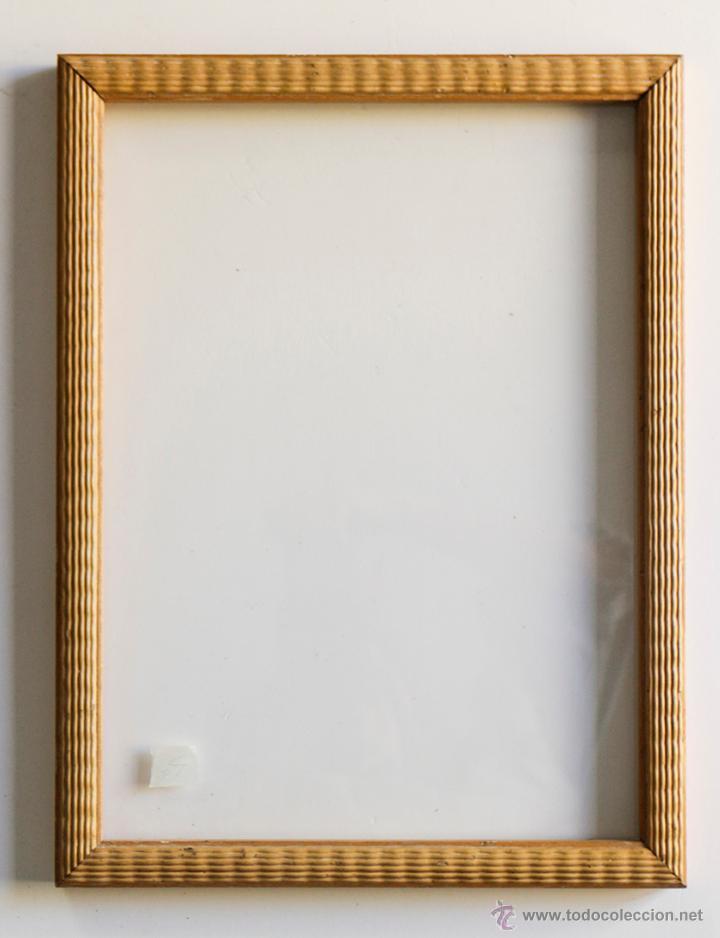 Marco vintage de madera clara con moldura en re comprar marcos antiguos de cuadros en - Marcos de madera ...