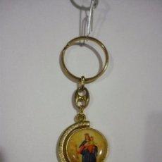 Antigüedades: LLAVERO RELIGIOSO: VIRGEN MARÍA AUXILIADORA Y JUAN BOSCO.. Lote 191540230
