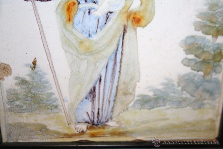 Antigüedades: PRECIOSO AZULEJO DE SAN JOSE SIGLO XVIII - Foto 5 - 51062829