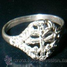 Antigüedades: SORTIJA CRUZ CARAVACA EN PLATA DE LEY - AJUSTABLE A CUALQUIER MEDIDA. Lote 51064028
