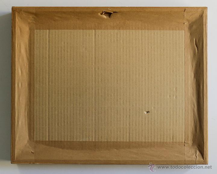 Antigüedades: ANTIGUO ABANICO MODERNISTA ENMARCADO - Foto 5 - 51068636