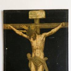 Antiquitäten - ANTIGUA LAMINA SOBRE MADERA DE CRISTO CRUCIFICADO - 47 X 33 CM - 51068900