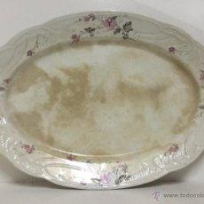 Antigüedades: GRAN BANDEJA DE PORCELANA -CERÁMICA DE SAN JUAN - FINAL S.XIX -. Lote 51076610