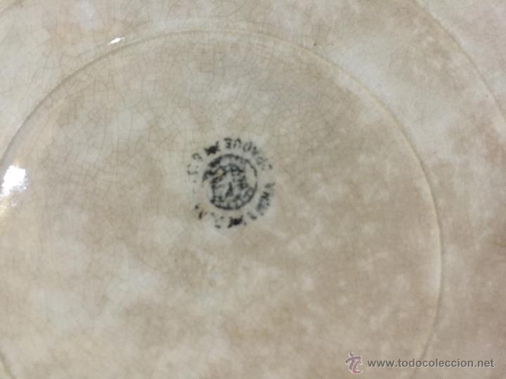 Antigüedades: GRAN BANDEJA DE PORCELANA -CERÁMICA DE SAN JUAN - FINAL S.XIX - - Foto 2 - 51076610