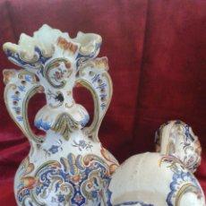 Antigüedades: JARRONES FAÏENCE DE ROUEN SIGLO XVIII AÑO 1778 30 CM .ALTUIRA PRECIO 2330 EUR. Lote 51076663