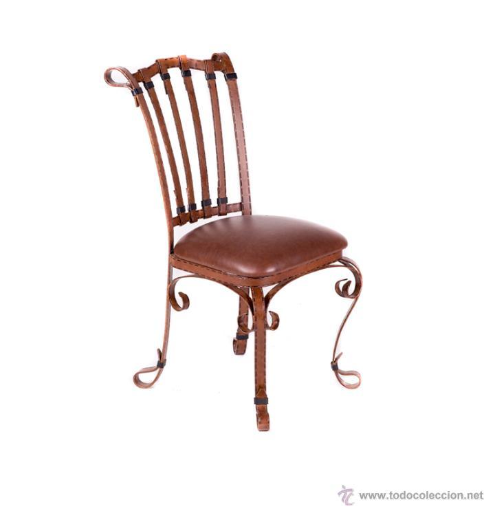 silla de forja imitaci n cuero comprar sillas antiguas