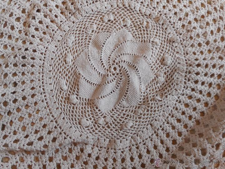 Antigüedades: gran tapete circular o redondo mide 110 cm diametro - Foto 3 - 51102260