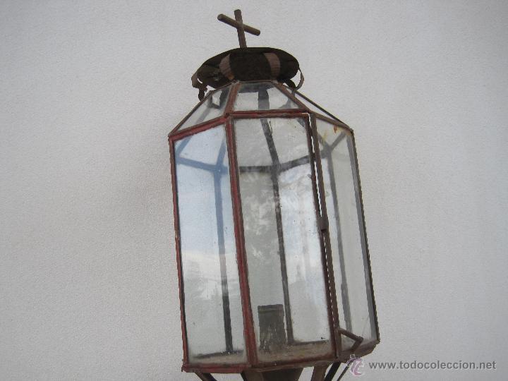 Antigüedades: FAROL DE PROCESIÓN ANTIGUO - Foto 2 - 173984675