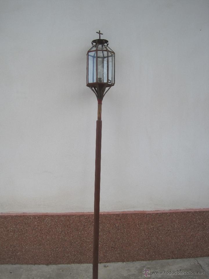 Antigüedades: FAROL DE PROCESIÓN ANTIGUO - Foto 3 - 173984675