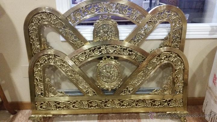 CAMA DORADA (Antigüedades - Muebles Antiguos - Camas Antiguas)