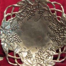 Antigüedades: CENTRO DE MESA O FRUTERO DE METAL. Lote 51119805