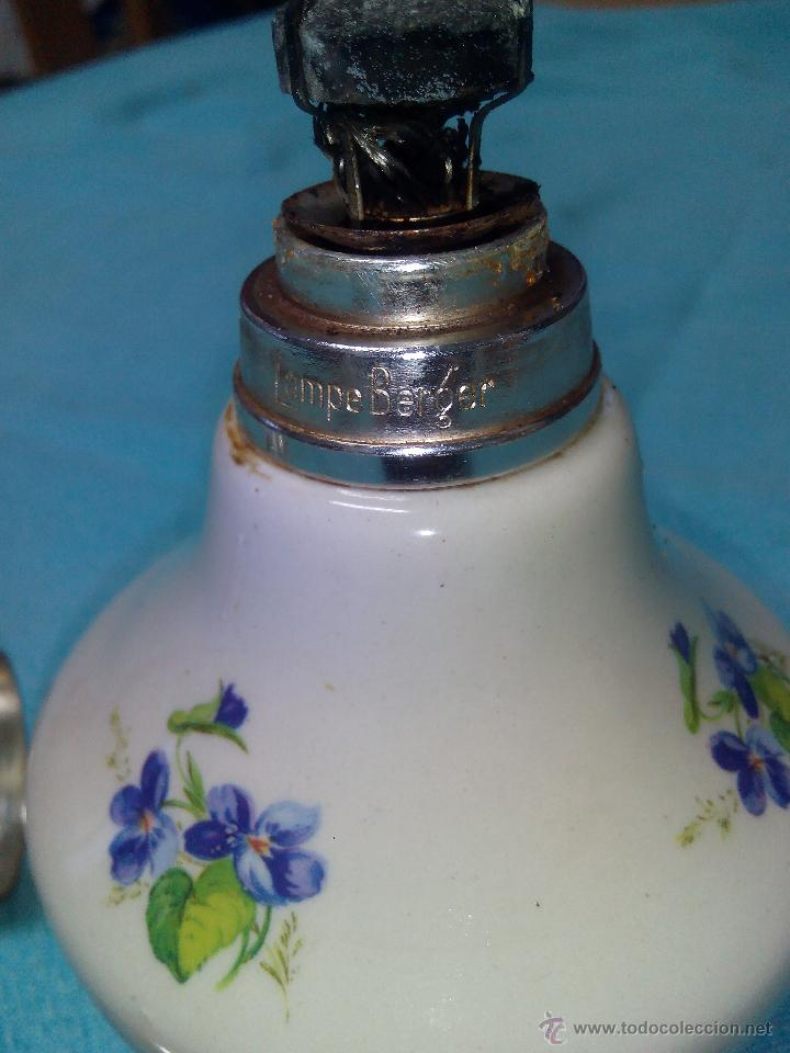 Antigüedades: PERFUMERO LAMPE BERGER france COLECCIÓN PORCELANA DE CHANTILLY TAPÓN METAL plateado.COMPLETA . - Foto 4 - 51121938