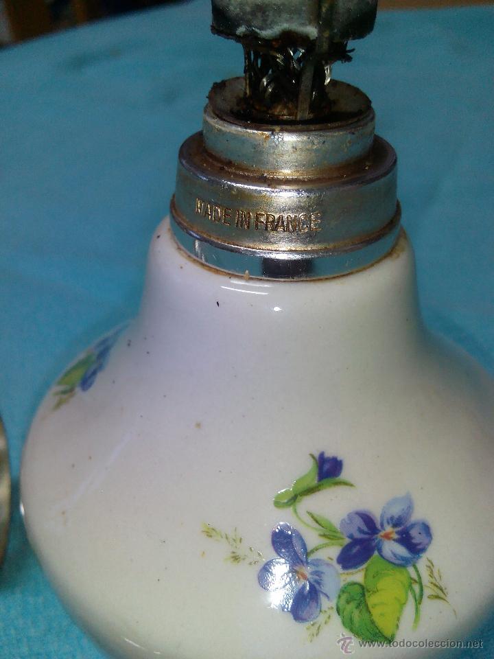 Antigüedades: PERFUMERO LAMPE BERGER france COLECCIÓN PORCELANA DE CHANTILLY TAPÓN METAL plateado.COMPLETA . - Foto 5 - 51121938