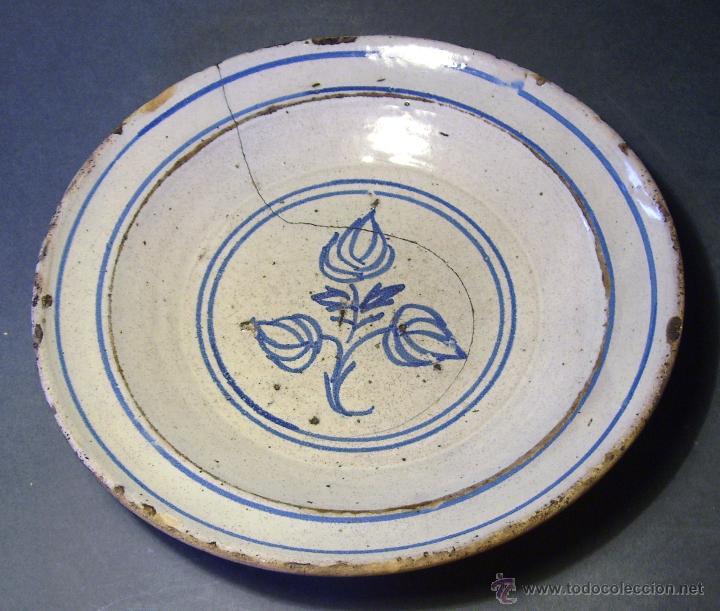 PLATO CERÁMICA ARAGONESA DE MUEL XIX (Antigüedades - Porcelanas y Cerámicas - Teruel)