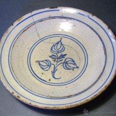 Antigüedades: PLATO CERÁMICA ARAGONESA DE MUEL XIX. Lote 51122316