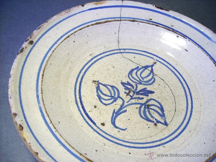 Antigüedades: PLATO CERÁMICA ARAGONESA DE MUEL XIX - Foto 5 - 51122316