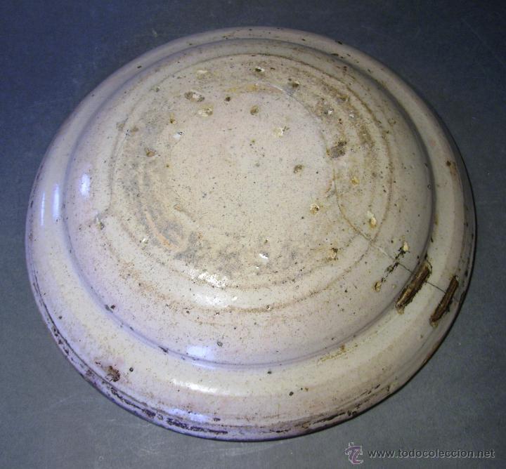 Antigüedades: PLATO CERÁMICA ARAGONESA DE MUEL XIX - Foto 7 - 51122316