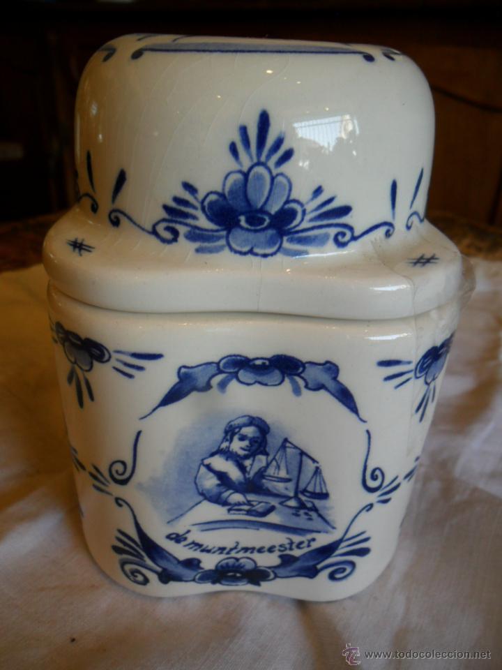 TARRO DE CERÁMICA DELFT (Antigüedades - Porcelana y Cerámica - Holandesa - Delft)