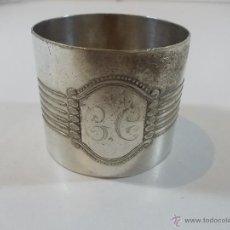Antigüedades: ANTIGUO SERVILLETERO DE PLATA DE 36.4 GR Y 4.3 CM DE ALTO. Lote 51124608